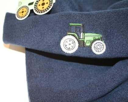 Hat scarf set Tractor
